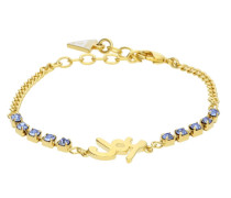 Armband 'My Feelings 4U' blau / gold