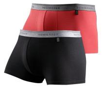 Boxer (2 Stck.) rot / schwarz