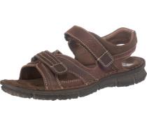Sandalen 'Fabius Komfort' braun / schwarz