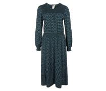 Kleid smaragd / helllila / weiß