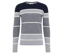 Pullover 'Knit - Alf' dunkelblau / grau