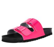 Sandale 'luna' neonpink / schwarz
