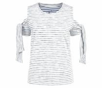 T-Shirt 'sandrine' marine / offwhite