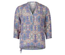 Bluse royalblau / mischfarben