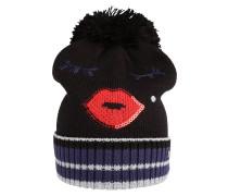 Mütze 'Lip&EyeCmas' schwarz