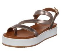 Sandale in Metallic-Optik graphit