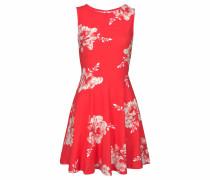 Sommerkleid hellrot / weiß