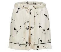 Shorts beige / schwarz