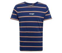 Shirt 'SS Stripe Tee' blau / rot