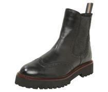 Boots hellbeige / weinrot / schwarz