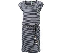 'glitter Organic' Jerseykleid navy / weiß