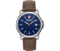Uhr braun / silber / blau