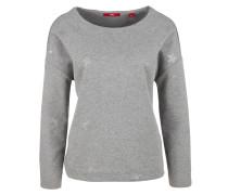 Meliertes Sweatshirt mit Print