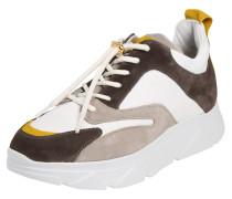 Sneaker 'Portia' weiß / grau / dunkelgrau
