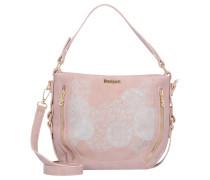 Bols Handtasche 28 cm grau / rosa