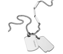 Kette 'Double Dogtags Dx1173040' silber