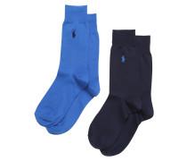 Socken himmelblau / dunkelblau