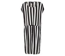 Kleid 'objbay Dallas' schwarz / weiß
