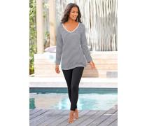Pyjama mit Streifenshirt und Leggings