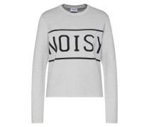 Pullover 'noisy' hellgrau / schwarz