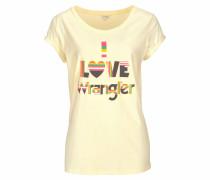 T-Shirt pastellgelb / mischfarben