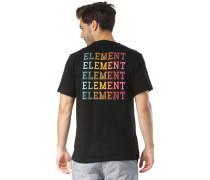 T-Shirt 'Drop' mischfarben / schwarz