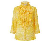 Bluse 'LillySZ' weiß / gelb
