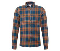 Hemd 'Munk' blau / khaki / orange