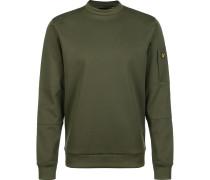 Sweatshirt 'Pocket' oliv / gelb