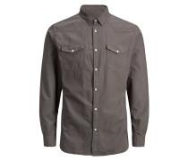 Westernstyle Langarmhemd braun
