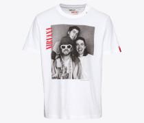 T-Shirt grau / rot / schwarz / weiß