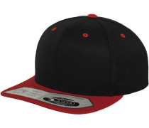 Snapback '110 Fitted' feuerrot / schwarz
