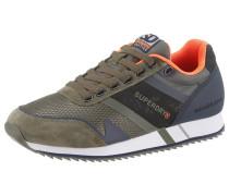 Sneaker khaki / orangerot
