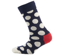 Socke 'big Dot' navy / rot / weiß