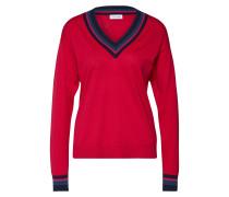 Pullover blau / rot