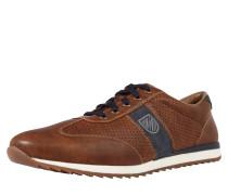 Sneaker in Lederoptik braun