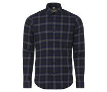 Hemd blau / graumeliert / khaki