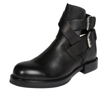 Schnallen-Boots 'Komb' aus Leder schwarz