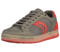 Sneaker greige / rot