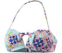 'Aloha' Bikini Oberteil türkis / mischfarben