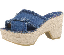 Pantoletten blue denim