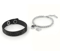 Armband 'Holiday' schwarz / silber