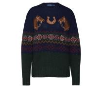 Pullover navy / mischfarben