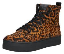 Sneaker 'Subway-W XL zipper' braun / schwarz