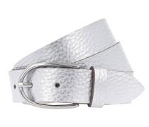 Gürtel 'Metallic 3cm' silber