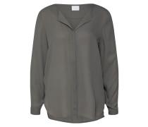 Bluse grau / khaki