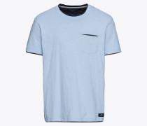 T-Shirt '2in1slub ss' navy / hellblau
