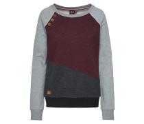Sweatshirt 'daria Block' grau / rot