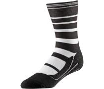 ' Ru4' Laufsocken schwarz / weiß