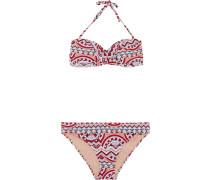 Bikini 'ebony' blau / koralle / rot